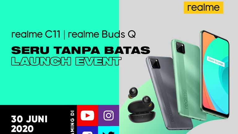 realme C11 dan Buds Q Launch