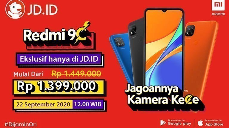 Flash Sale Redmi 9C di JD.id-